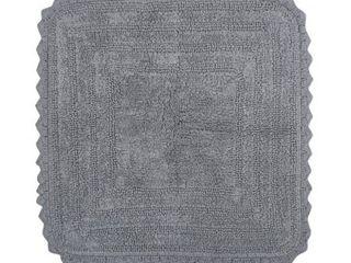 square 24x24   Grey  DII Reversible Soft Crochet Bath Mat