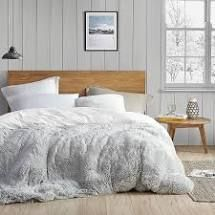 King  Coma Inducer Duvet Cover   Are You Kidding   Glacier Gray White  Retail 132 49
