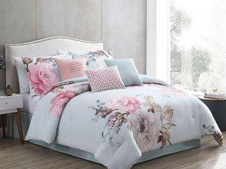 N A   King  Ridgely Blush Comforter Set  Retail 132 49
