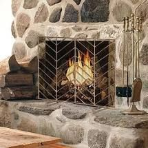 gold  Modern Iron Single Panel Fireplace Screen Decorative Mesh Cover Baby Safe Proof Fire Place  Retail 94 99