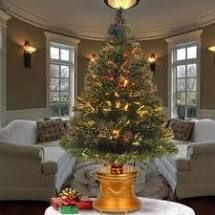 3 Foot  Pre lit Artificial Christmas Tree Fiber Optic Tree
