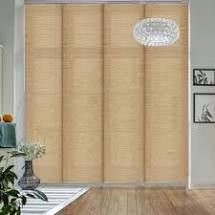 GoDear Design Natural Woven Adjustable Sliding Panel  Pleated Fabric  45 8  86  W x 96  l  Retail 156 99