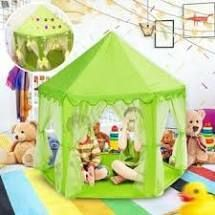 Kids   1   Assembly Required  55 x 53  Princess Castle Play Tent for Girls with lED Star String lights Green    1