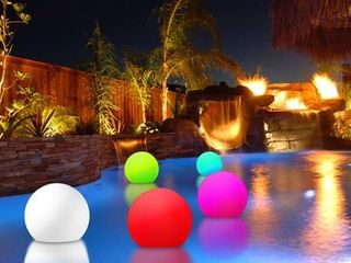 Modern Home Deluxe Floating lED Glowing Sphere w Infrared Remote Control