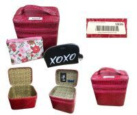 Make Up Case  Red  and Cosmetic Bags