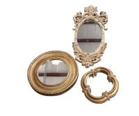 Mirrors large Oval 40 x18  Round 20  Small 13 x15