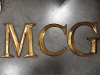 11 5in Gold letters M  C  G