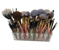 Makeup Brushes in Acrylic Stand