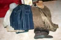 Genuine leather Jacket  Qty 2  Both Size Med  l l  Bean Winter Coat  Xl  And Helly Hanson Coat  Size l  Men s Hats  And l l  Bean Winter Boots