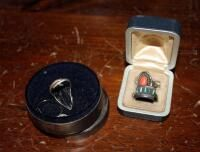 18K White Gold Men s Band  Sterling Silver Rings  Assorted Sizes  And Sterling Silver Earrings