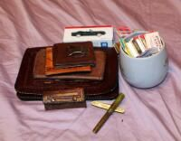Vintage Matchbook Collection  Men s leather Wallets  Tooled leather Clutch  And More
