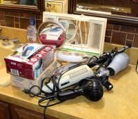 Wahl Electric Clippers  lighted Mirrors  Hair Dryers  Curling Irons  And More