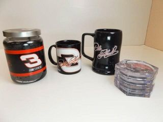 Dale Earnhardt Mugs  2  Candle  Coasters