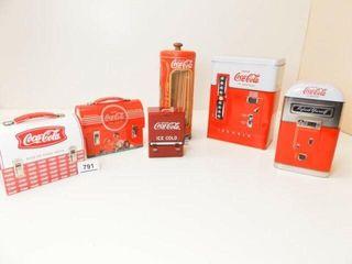 Coca Cola Tins  5  Toothpick Dispenser