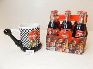 Coca Cola Nascar Bottles  6  Mug