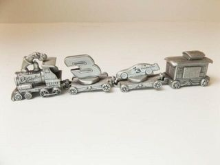 Dale Earnhardt Pewter Train  6    4 train cars
