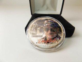 Dale Earnhardt 2001 Silver Dollar Coin in box