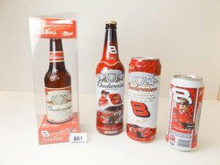 Dale Earnhardt Jr  Budweiser Cans  2  Bottles