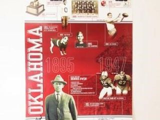 OU Football  1895 47 Poster  with 3 Signatures