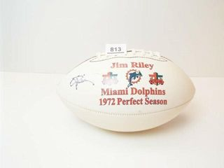Miami Dolphins Jim Riley Football  Signed