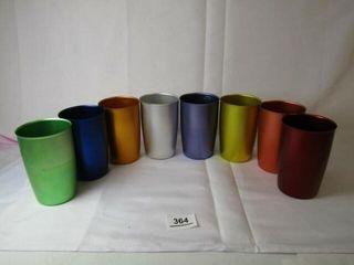 8 Metallic Cups