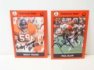 Oklahoma State Football Signed Cards  2