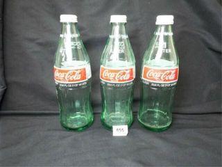 Coca Cola 1 liter Bottles  Twist Caps  3