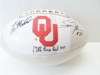 OU Football  Signed  1986 Orange Bowl MVP noted