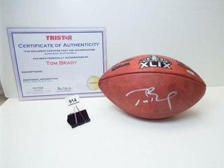 Tom Brady Super Bowl XlIX Signed Football Verified