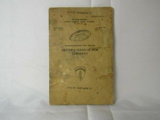 US Army Drivers Manual for Germany