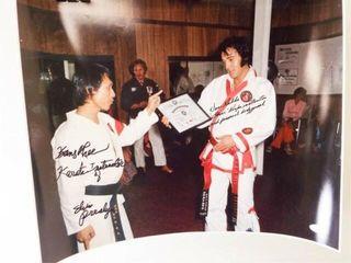 Elvis Presley Martial Arts Signed Photo  Verified