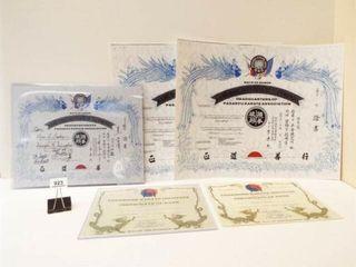 Martial Arts Certificates 3 w Elvis Presley Name