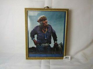 Native American framed photo