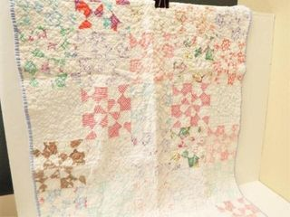 Child s Quilt  Hand Quilted  46  x 32