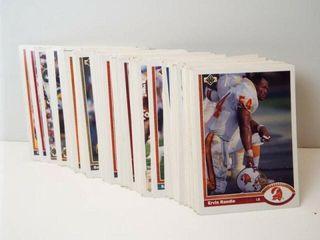 Football Upper Deck Cards  approx 75