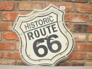 Neon Route 66 clock