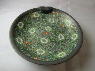 Japanese Porcelain Pewter Ash Tray