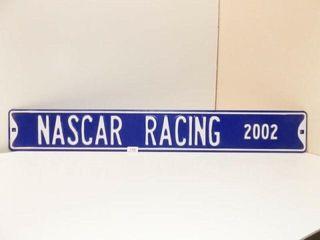 Nascar Racing 2002 Metal Sign  42  x 6
