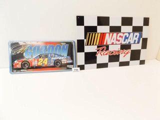 Nascar Racing Tin Sign  Gordon Metal license