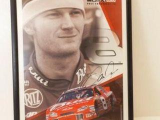 Dale Earnhardt Jr  Signed  Framed Poster  30  x 19
