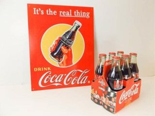 Dale Earnhardt Coca Cola Bottles 6  Cola Tin Sign