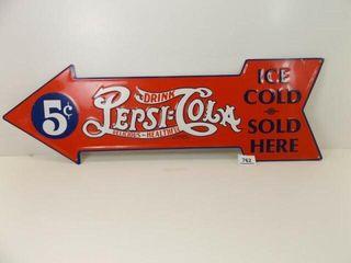 Pepsi Cola Tin Sign  27  x 9