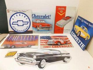 Chevrolet  Cadillac  Corvette Tin Signs  7