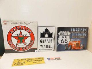 Transportation Tin Signs  3  Stickers  2