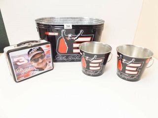 Dale Earnhardt Tin Buckets  3  Tin Box