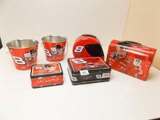 Dale Earnhardt Jr  Tin Buckets  2  Boxes  4
