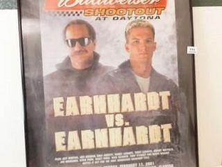 Budweiser  Earnhardt Framed Poster  36  x 24