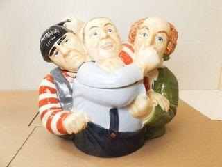 Three Stooges Cookie Jar  Clay Art
