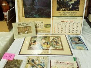 8  calendars from The 20 s thru the 60 s