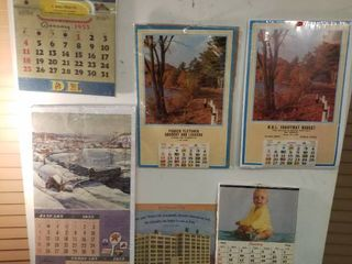 6  1950 s advertising calendars